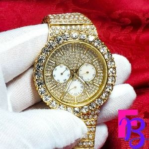 12 CTW Iced Gold Mens Watch